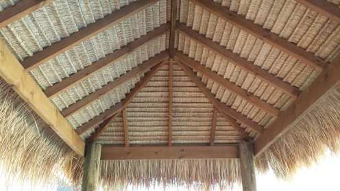 my carpentry bali hut roof repair