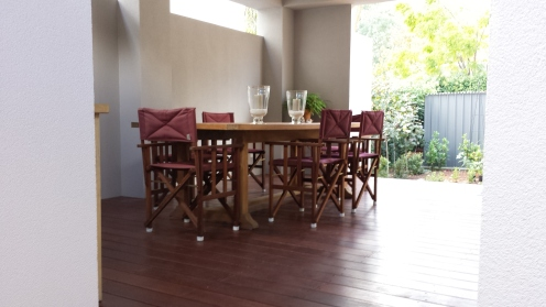 alfresco dining area with decking