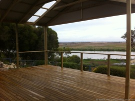 Treated Pine deck overlooking the Murray River