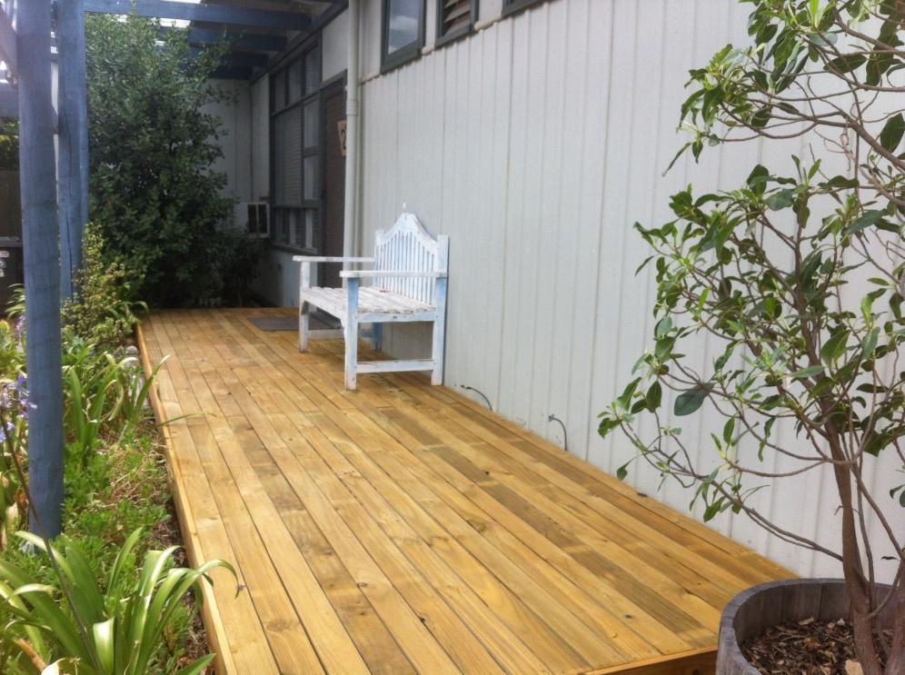 Treated Pine porch deck